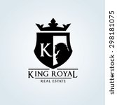king royal real estate logo... | Shutterstock .eps vector #298181075