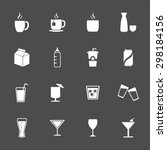drink icons. beverages icons.... | Shutterstock .eps vector #298184156