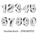 collection of 10 three... | Shutterstock .eps vector #298184552