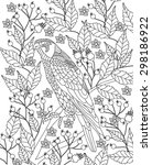 hand drawn bird coloring page | Shutterstock .eps vector #298186922