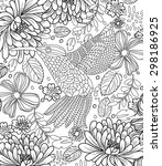 hand drawn bird coloring page | Shutterstock .eps vector #298186925