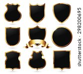 collection of royal black and... | Shutterstock .eps vector #298200695