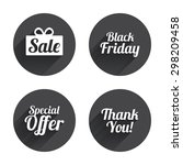 sale icons. special offer and... | Shutterstock .eps vector #298209458