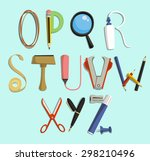 Alphabet With Office Supply...