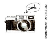 camera retro vintage  ... | Shutterstock . vector #298211282