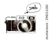camera retro vintage  ... | Shutterstock . vector #298211282