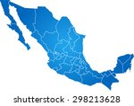 map of mexico | Shutterstock .eps vector #298213628