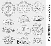 logo template.hand drawn frame... | Shutterstock .eps vector #298217312