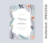 elegant wedding card design... | Shutterstock .eps vector #298222526