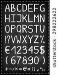 alphabet on chalkboard. chalk... | Shutterstock .eps vector #298222622