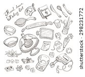 baking items doodle set. vector ... | Shutterstock .eps vector #298231772
