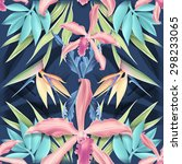 seamless tropical flower  plant ... | Shutterstock . vector #298233065