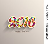 illustration of happy new year... | Shutterstock .eps vector #298234442