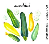 Set With Zucchini And Squash....