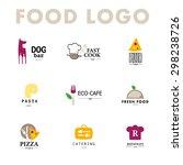 vector set of restaurant logo... | Shutterstock .eps vector #298238726