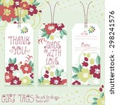 gift tags set for design.... | Shutterstock .eps vector #298241576