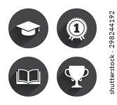 graduation icons. graduation...   Shutterstock .eps vector #298244192