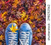 autumn season in hipster style... | Shutterstock . vector #298252562