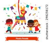children celebrating posada by...
