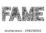 lace with ''fame'' slogan | Shutterstock .eps vector #298258502