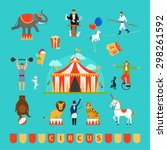circus and fun fair elements in ... | Shutterstock .eps vector #298261592