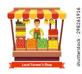 local farmer produce shop... | Shutterstock .eps vector #298261916