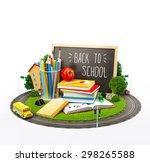 unusual back to school concept. ... | Shutterstock . vector #298265588