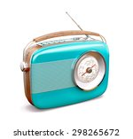 Vintage Radio On White...