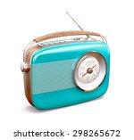 Vintage Radio On White...