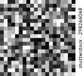 abstract grayscale pixels noise ... | Shutterstock .eps vector #298266068