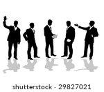 set of business people | Shutterstock .eps vector #29827021