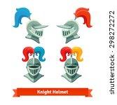 Medieval Knights Helmet With...