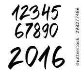 hand drawn numbers | Shutterstock .eps vector #298277486