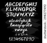 chalk hand drawn alphabet | Shutterstock .eps vector #298277492