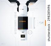 hi tech vector template. eps10 | Shutterstock .eps vector #298285496