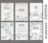 set of six vector designs of... | Shutterstock .eps vector #298295936