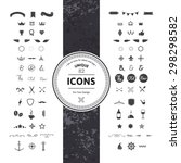 awesome set of hipster icons... | Shutterstock .eps vector #298298582