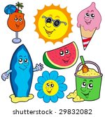summer pictures collection  ... | Shutterstock .eps vector #29832082