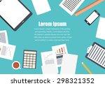 flat design .freelance career... | Shutterstock .eps vector #298321352