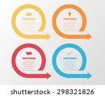 vector circle arrows for info...   Shutterstock .eps vector #298321826