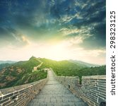 the majestic great wall ... | Shutterstock . vector #298323125