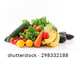 fresh fruits and vegetables | Shutterstock . vector #298332188