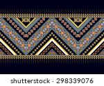 geometric ethnic pattern design ... | Shutterstock .eps vector #298339076