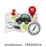 gps technology design  vector... | Shutterstock .eps vector #298346516