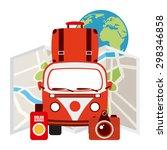 summer vacation design  vector... | Shutterstock .eps vector #298346858