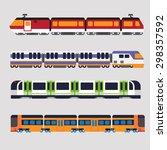 train subway | Shutterstock .eps vector #298357592