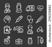 medicine and health icons.... | Shutterstock .eps vector #298358882