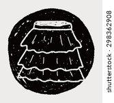 skirt doodle   Shutterstock .eps vector #298362908