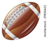 A shiny glossy american football ball icon - stock vector