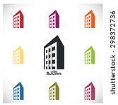logo real building  business | Shutterstock .eps vector #298372736